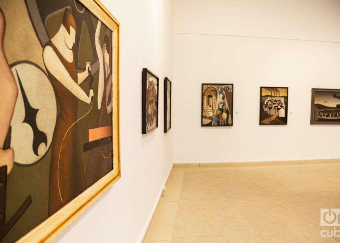 Exposición de Marcelo Pogolotti en el Museo Nacional de Bellas Artes. Foto: Claudio Pelaez Sordo.