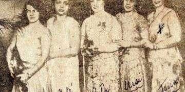 Quinteto de las Hermanas Badía. Foto: Archivo familiar.