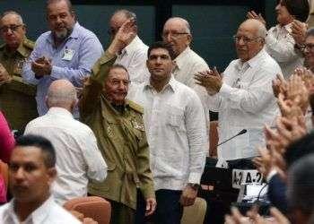 Raúl Castro en la sesión de la Asamblea Nacional de Cuba hoy, sábado 2 de junio de 2018, en el salón plenario del Palacio de Convenciones de La Habana. Foto: Marcelino Vázquez / EFE.