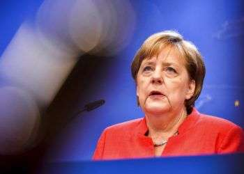 La canciller alemana Angela Merkel. Foto: Geert Vanden Wijngaert.