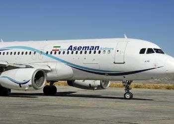 Avión de la compañía aérea iraní Aseman Airline. Foto: Financial Tribune.