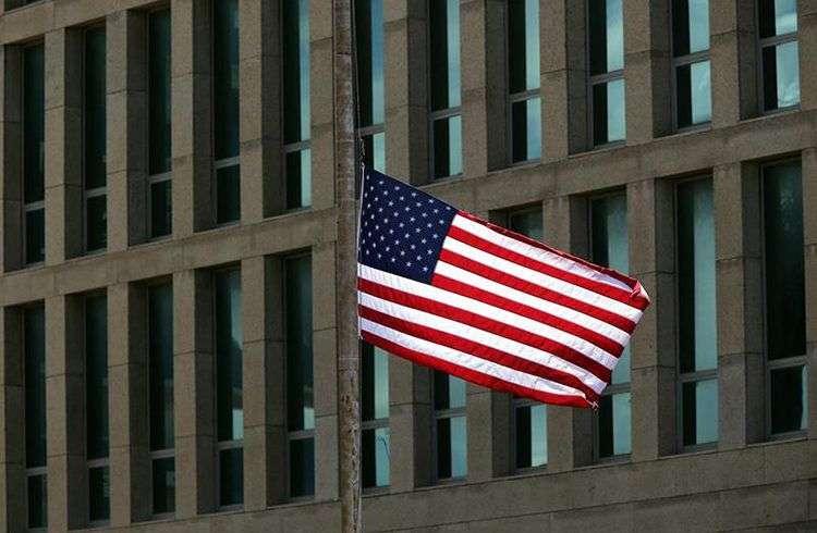 Embajada de Estados Unidos en La Habana. Foto: Alejandro Ernesto / EFE / Archivo.