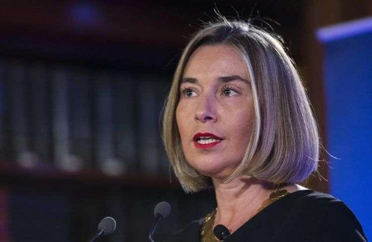Federica Mogherini, jefa de la diplomacia de la Unión Europea. Foto tomada de su cuenta de Twitter.