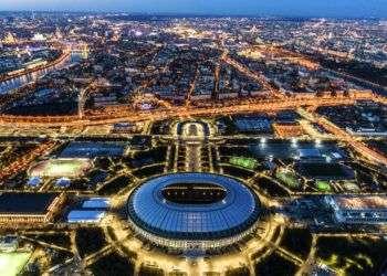 Desde el aire el estadio Luzhniki de Moscú, donde se realizará la final de la Copa del Mundo Foto: Dmitry Serebryakov/AP.