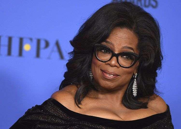 Oprah Winfrey al aceptar el Premio Cecil B. DeMille en la 75° entrega anual de los Golden Globe Awards. Foto: Jordan Strauss / Invision / AP.