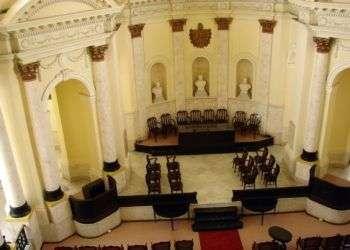 Paraninfo de la Academia de Ciencias de Cuba. Foto cadenagramonte.cu