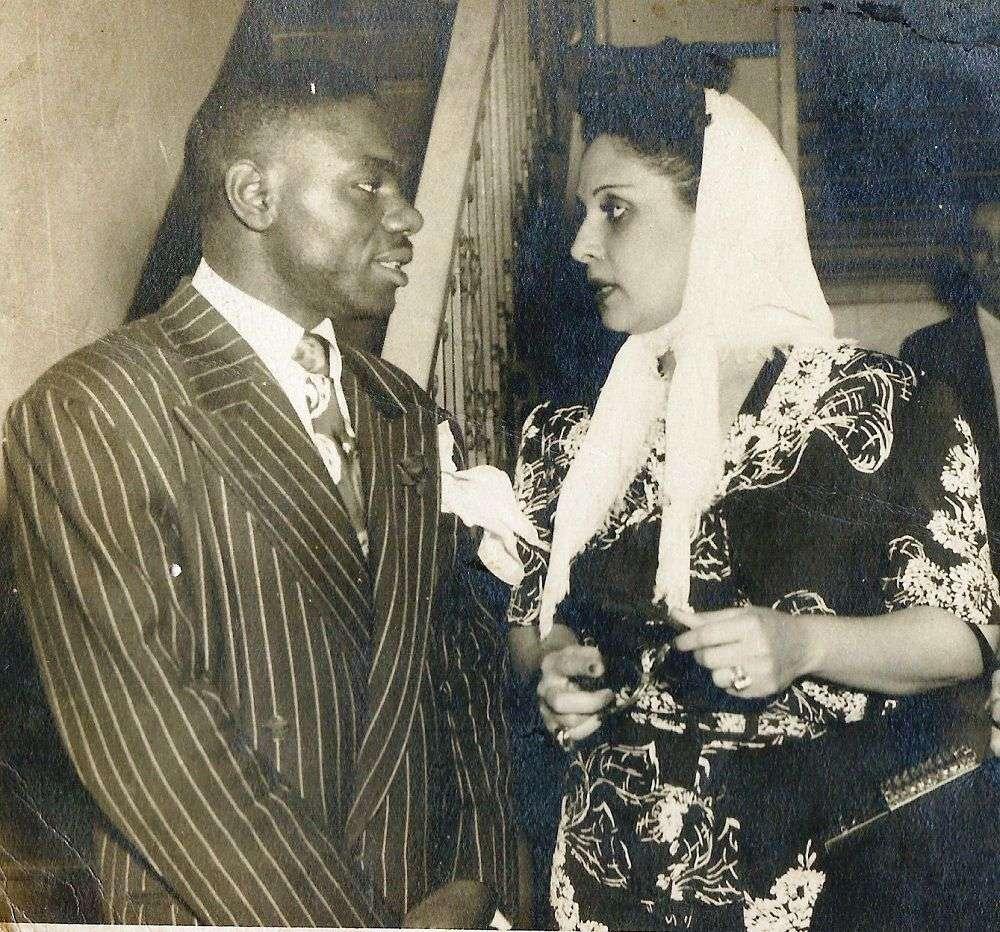 Chano Pozo y Rita Montaner. Foto perteneciente a la Colección de Gladys Palmera