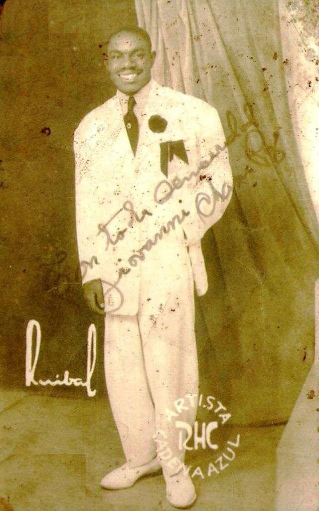 Chano Pozo. Foto perteneciente a la Colección de Gladys Palmera