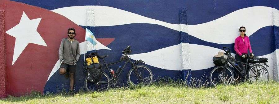 Caren Peresón y Cruz Scardellato. Foto: Viviendo el camino.