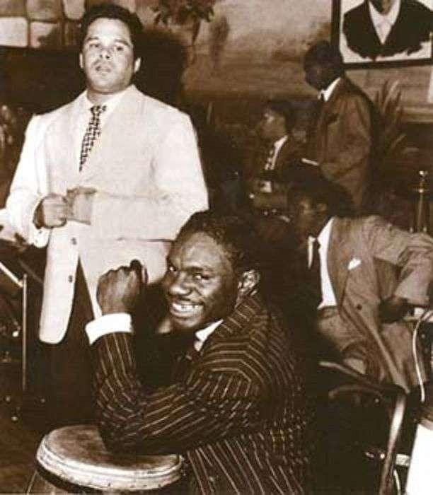 Miguelito Valdés con Chano Pozo. Cortesía de Rosa Marquetti
