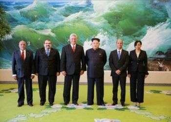 Miguel Díaz-Canel, como primer vicepresidente, durante visita a Corea del Norte.
