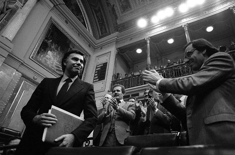 El 1 de diciembre de 1982, Felipe González era proclamado presidente del Gobierno de España. Foto: Marisa Flórez.