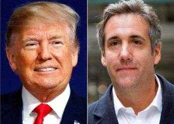Donald Trump (izq) y su ex abogado Michael Cohen. Foto: AP / Archivo.