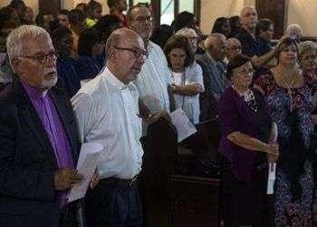 Foto de archivo de religiosos cubanos y estadounidenses celebrando juntos en La Habana elaniversario 70 de la creación del Consejo Mundial de Iglesias. Foto: Irene Pérez / Cubadebate / Archivo.