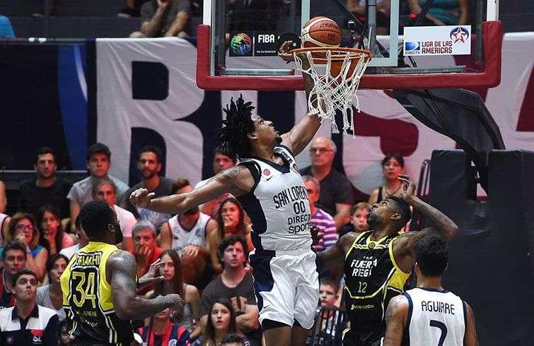 El santiaguero Javier Justiz en la Liga de las Américas. Foto: Fiba.basketball.
