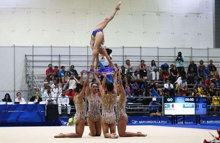 México sacó una gran renta en la gimnasia rítmica. Foto: @TD_Deportes / twitter.