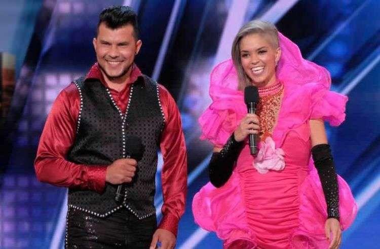 Sixto y Lucía durante el concurso America's Got Talent.