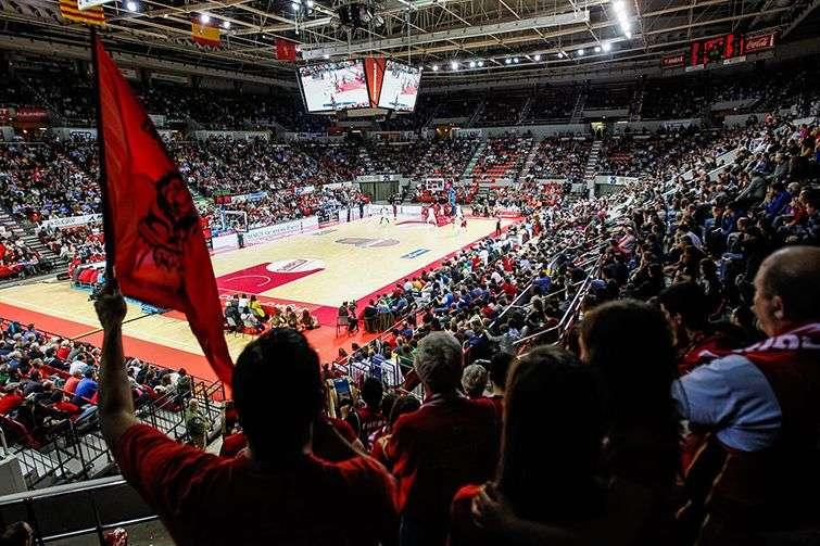 El Pabellón Príncipe Felipe, sede del Tecnyconta Zaragoza. Foto: @BasketZaragoza / Facebook.