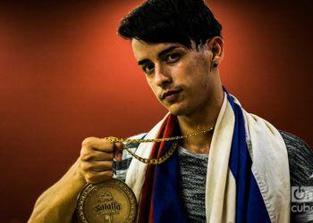 El joven campeón Yeriko, de Holguín. Foto: Pablo Dewin Reyes.