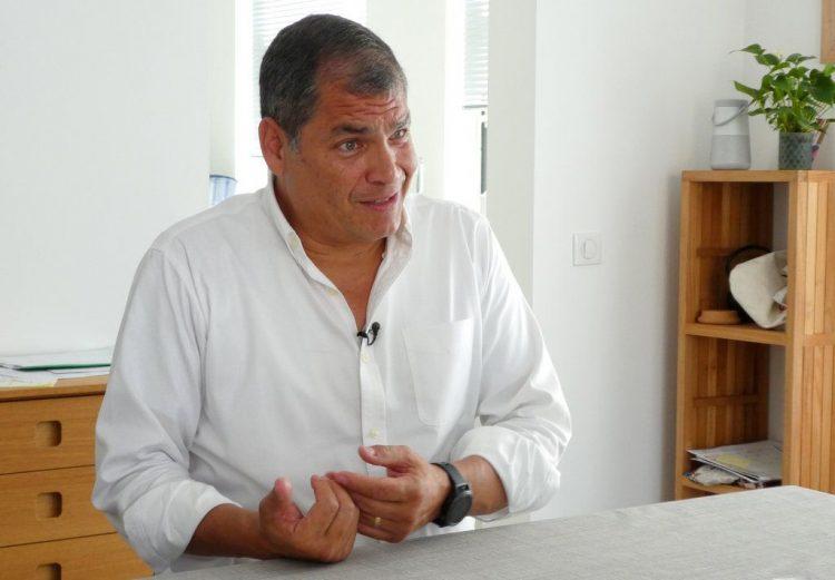 El expresidente ecuatoriano Rafael Correa. Foto: AP/Mark Carlson/Archivo.
