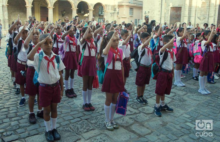 Inicio del curso escolar. Foto: Otmaro Rodríguez.