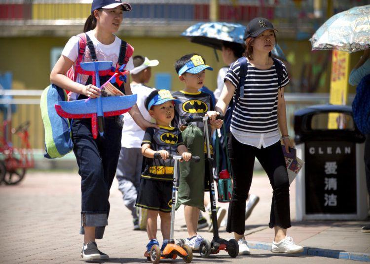 Día Internacional del Niño en Beijing. Foto: Mark Schiefelbein / AP.