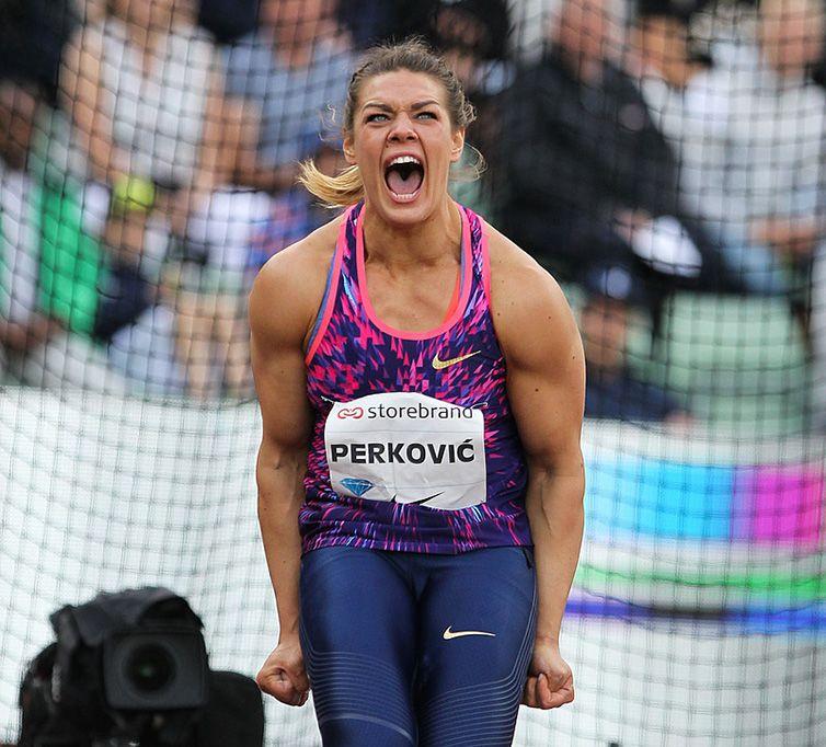 La croata Sandra Perkovic. Foto: diamondleague.com