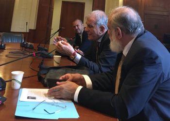 Científicos cubanos intercambian en la Academia Nacional de Ciencias de EE.UU., en Washington, sobre las afectaciones de salud sufridas por diplomáticos estadounidenses en La Habana. Foto: @JohanaTablada / Twitter.