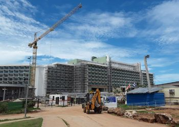 El nuevo Hotel Internacional de Varadero en su fase final de construcción. Foto: Editora Girón / Facebook.
