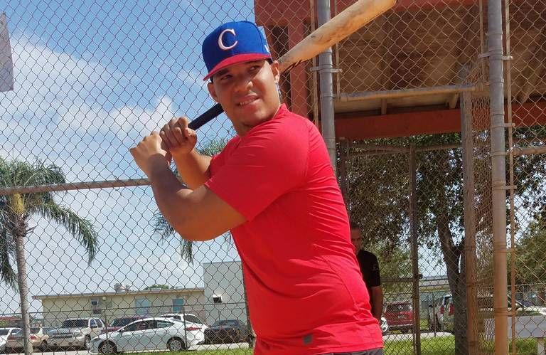 Lionard Kindelán ha bajado de peso y ha trabajado para perfeccionar su swing. Foto: Jorge Ebro