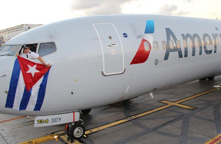 Vuelo de American Airlines a Cuba. Foto: bizjournals.com / Archivo.