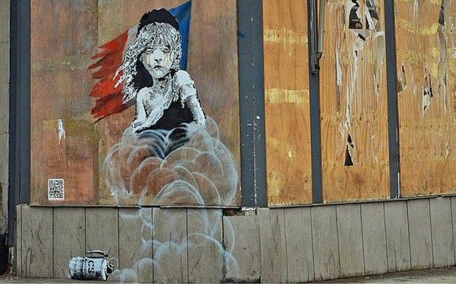 Una marianne de Banksy.