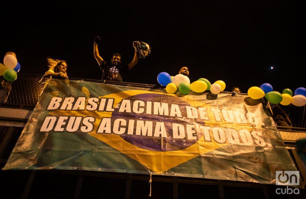 """""""Brasil encima de todos. Dios encima de todo"""". Foto: Nicolás Cabrera."""