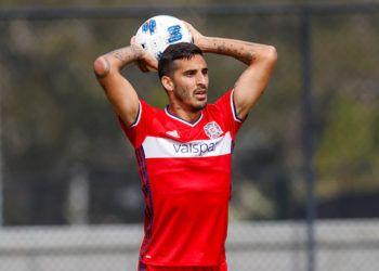 El cubano Jorge Luis Corrales, con el uniforme del Chicago Fire, de la MLS. Foto: Matt May / Chicago Fire.