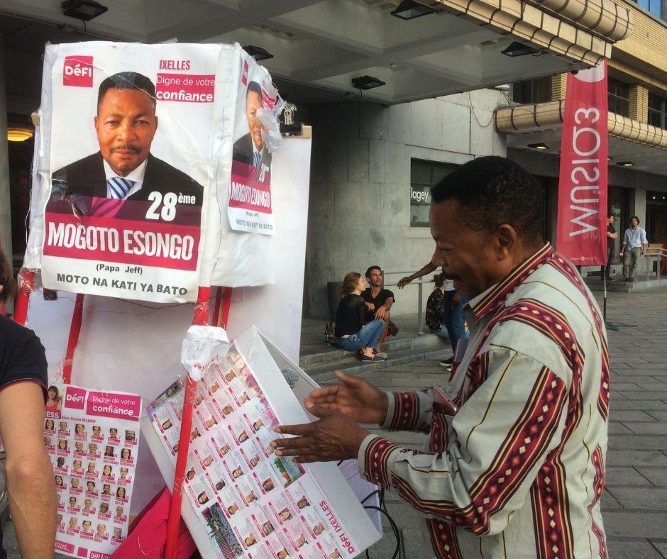 Los candidatos auto promocionándose (Foto: Daniel Wizenberg)