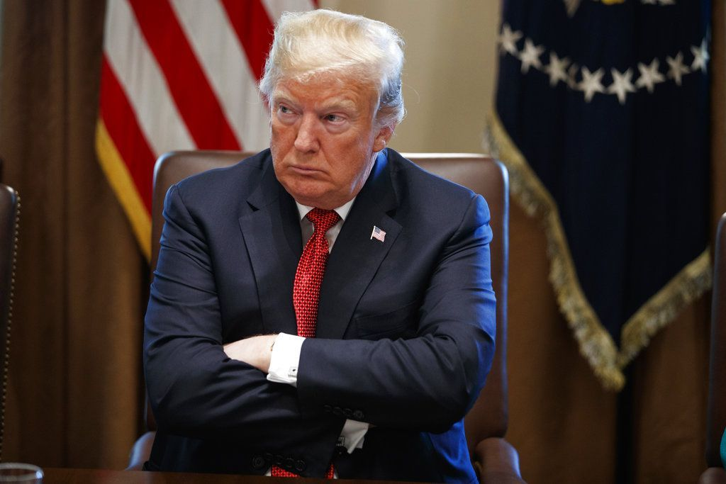 Donald Trump fotografiado durante una reunión de gabinete en la Casa Blanca en Washington el 17 de octubre del 2018. Foto: Evan Vucci / AP / Archivo.