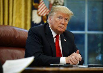 El presidente Donald Trump durante la entrevista con la AP el 16 de octubre del 2018 en la Casa Blanca en Washington. Foto: Evan Vucci / AP.