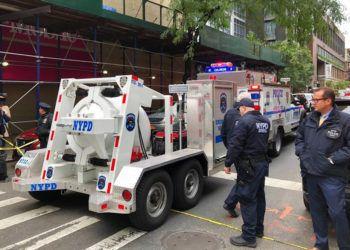 postal en Nueva York, donde se reportó otro paquete sospechoso, el 26 de octubre del 2018 Foto: Mark Lennihan / AP.