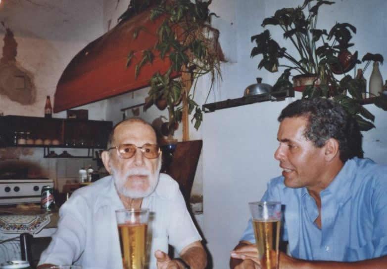 Abelardo Estorino y Reinaldo Montero. Foto tomada del Archivo digital del teatro cubano.