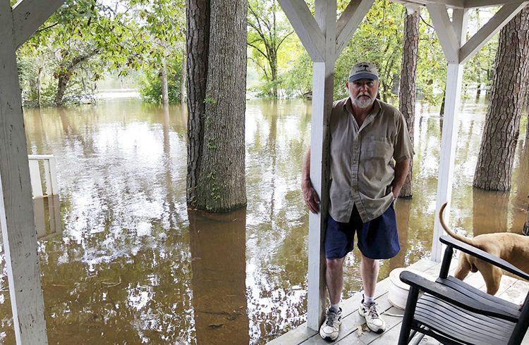 Las inundaciones permanecen en Carolina del Sur, tras el paso de la tormenta Florence. Foto: Jeffrey S. Collins / AP.