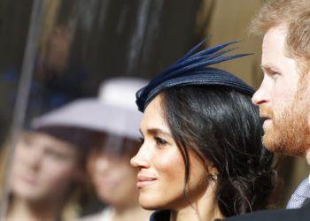 El príncipe Enrique y su esposa Meghan, Duquesa de Sussex, durante la boda de la princesa Eugenie de York y Jack Brooksbank en el Castillo de Windsor el 12 de octubre del 2018.Foto: Alastair Grant, Pool/AP.