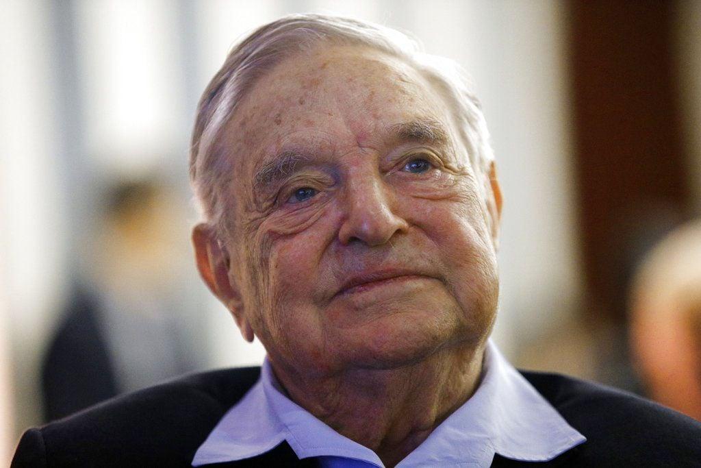 El filántropo multimillonario George Soros en un evento en París, mayo de 2018. Foto: François Mori / AP.