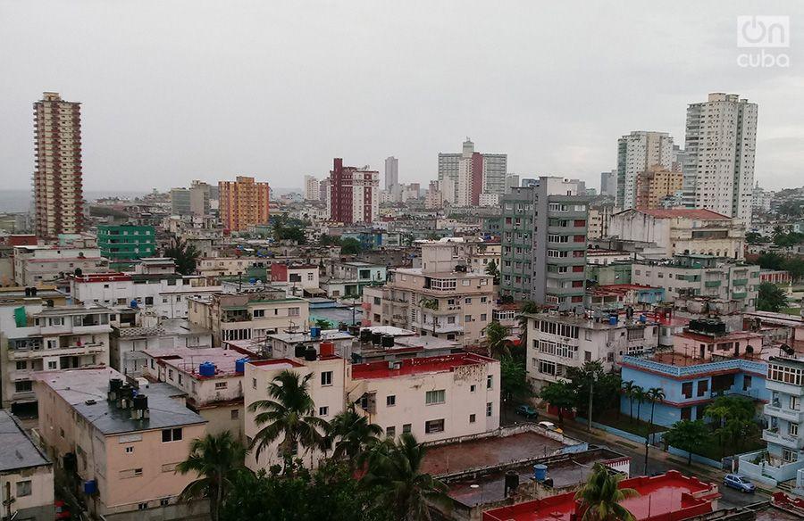 Imagen de La Habana la tarde del lunes 8 de octubre de 2018, ante la cercanía del huracán Michael.
