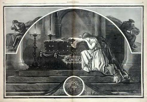 """""""El asesinato del Presidente [Lincoln]"""", Harper's Weekly. Volumen 9, No. 435, Abril, 1865."""
