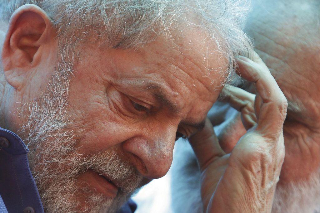 El ex presidente brasileño Luiz Inácio Lula da Silva en una foto del 26 de marzo de 2018 durante un mitin en Francisco Beltrao, Brasil. Foto: Eraldo Peres.
