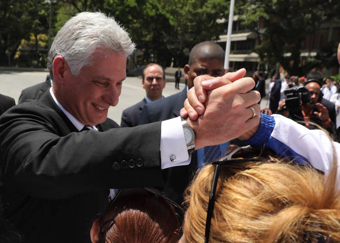 Miguel Díaz-Canel durante una visita a Caracas en mayo de 2018. Foto: Miguel Gutiérrez/EFE.