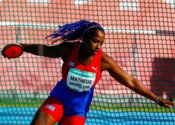 La discóbola Melany Matheus dio a Cuba su segunda medalla de oro en los Juegos Olímpicos de la Juventud Buenos Aires 2018. Foto: Calixto N. Llanes / Jit.