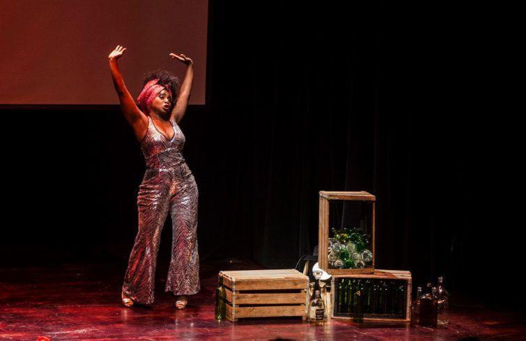 Monse Duany en el estreno de Muñeca Rota. Foto: Enrique Smith.
