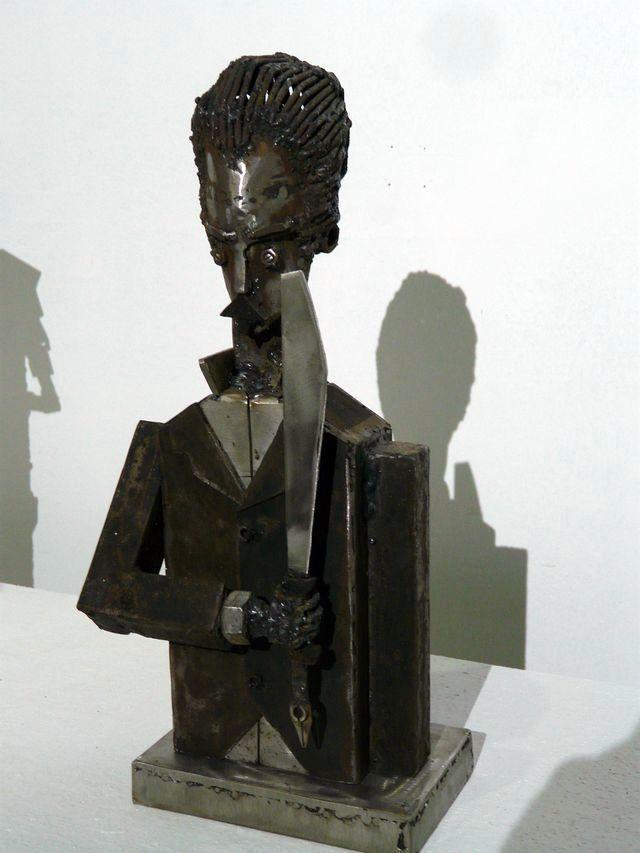 "Pelli-""Martí con machete"". Foto: Angel Marqués Dolz."