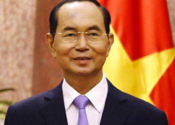 El presidente de Vietnam, Tran Dai Quang, en el palacio presidencial en Hanói, septiembre de 2018. Foto de Pool vía AP.
